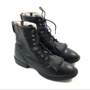 Ariat Boots Women's Size 9 Black Western Shoe Lace